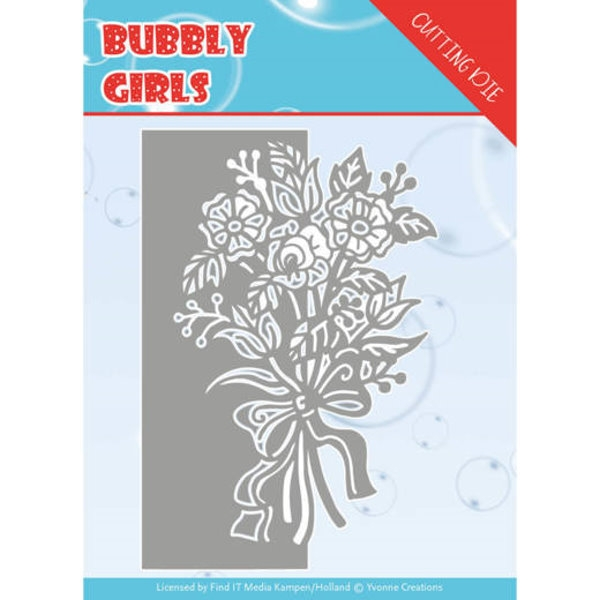 Bubbly Girls - Bouquet - Stanzschablone