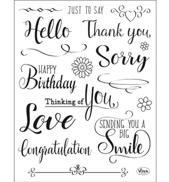 Just to say - Stempel - Clearstamp