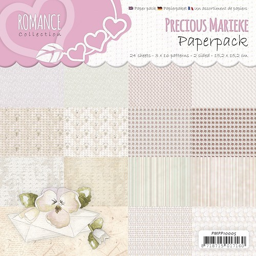 Motivpapier-Set / Scrapbook - Precious Marieke - Romance