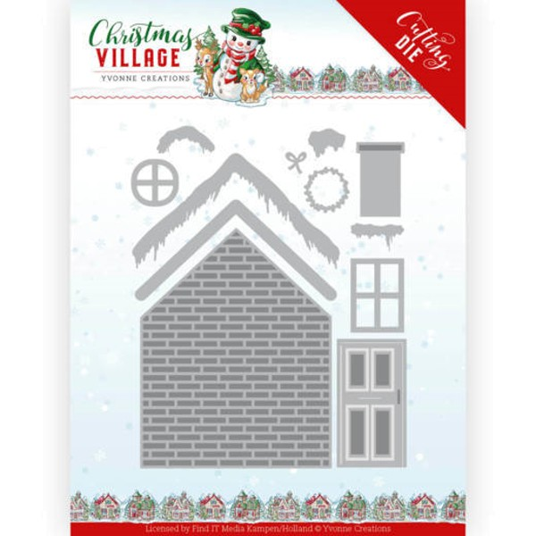 Build up House / Weihnachtliches Haus als Bausatz - Christmas Village - Stanzschablone