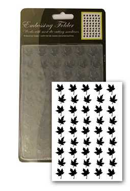 Prägeschablone / Embossing Folder - Leaf / Ahornblatt 10,5x15 cm