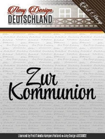 Textstempel: Zur Kommunion - Clearstamp