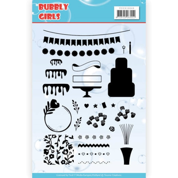 Bubbly Girls - Clearstamp / Stempel