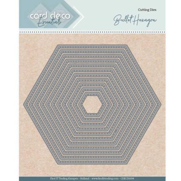 Bullet Hexagon - Nesting Dies von Card Deco (CDECD0094)