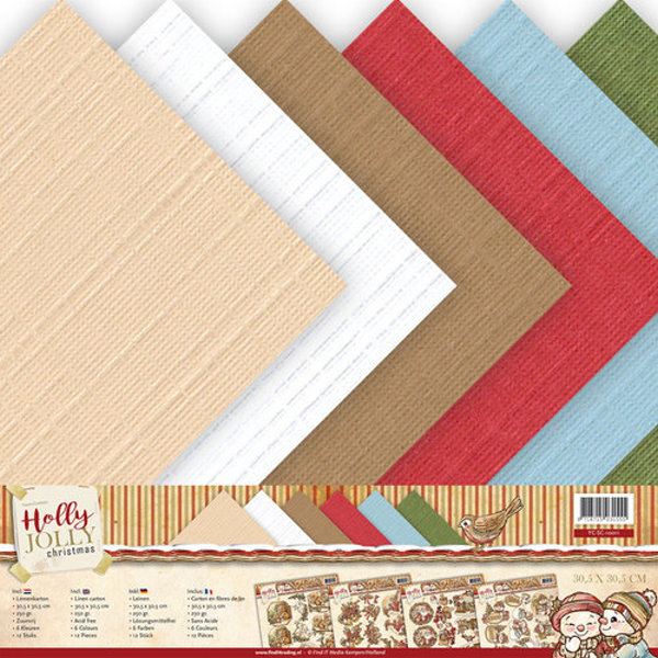 Stanzschablone Card Set Yvonne Creations Holly Jolly