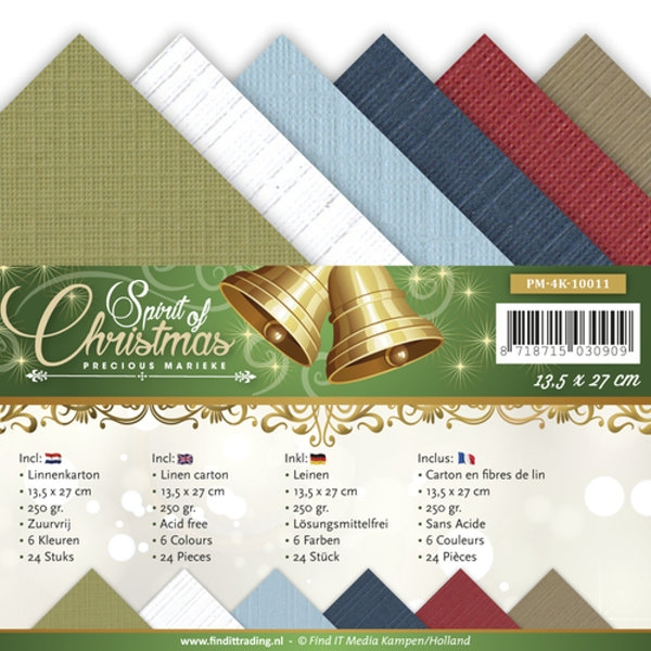 Spirit of Christmas - Precious Marieke - Leinenpapier-Set