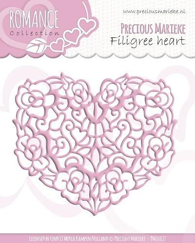 Herz - Filigran gearbeitet - Stanz- und Prägeschablone