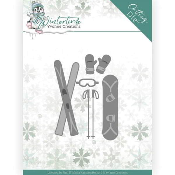 Ski Accesoires - Winter Time - Stanzschablone