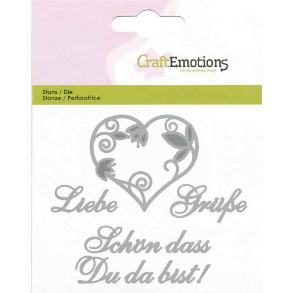 Liebe Grüße - Textschablone von CraftEmotions (115633/0408)