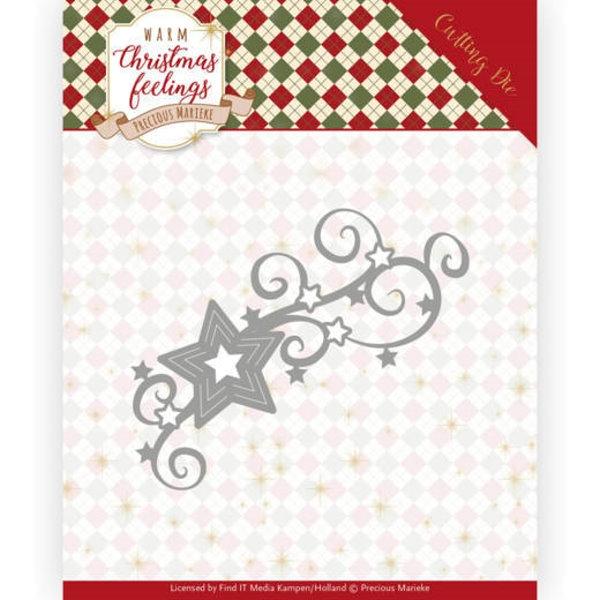 Christmas Swirl / Schnörkel aus Sternen - Stanzschablone