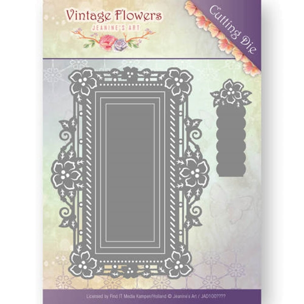 Floral Rectangle / Rechteck - Vintage Flowers Collection - Stanzschablone