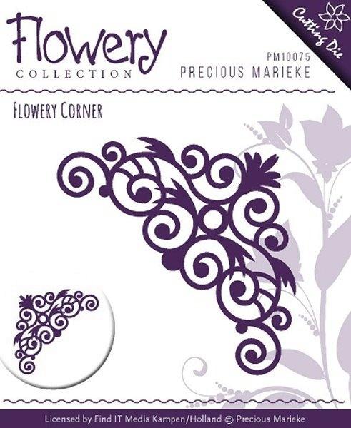 Flowery - Swirl Corner - Stanzschablone