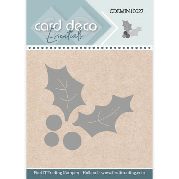 Holly / Stechpalmenzweig - Mini Dies von Card Deco (CDEMIN10027)