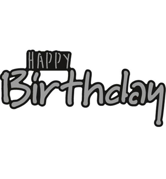 Happy Birthday - Text - Stanzschablone