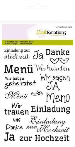 Texte zur Hochzeit - Clear Stamp - Stempelplatte von Craft Emotions (130501/1155)