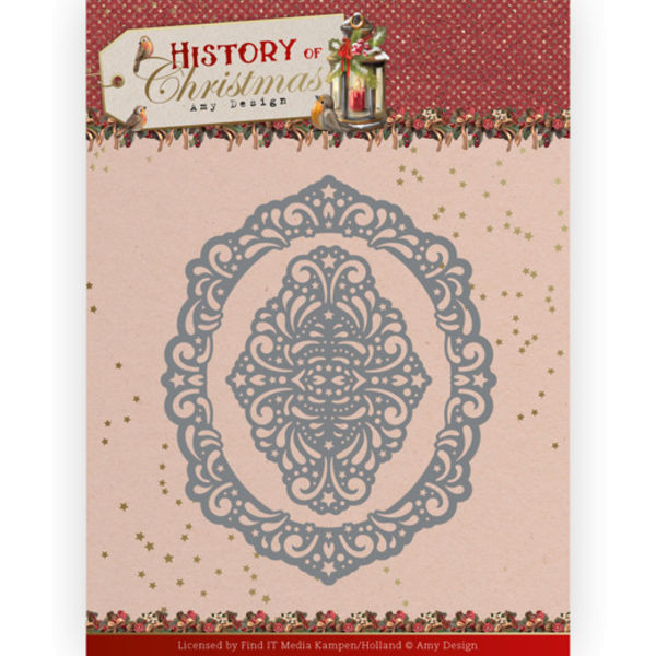 Lacy Christmas Oval - History of Christmas Collection von Amy Design (ADD10245)
