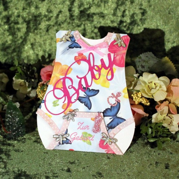 Gruss- Glückwunschkarte zur Geburt ...