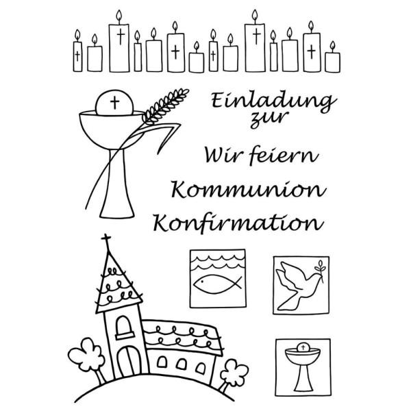 Kommunion / Konfirmation - Stempel - Clearstamp