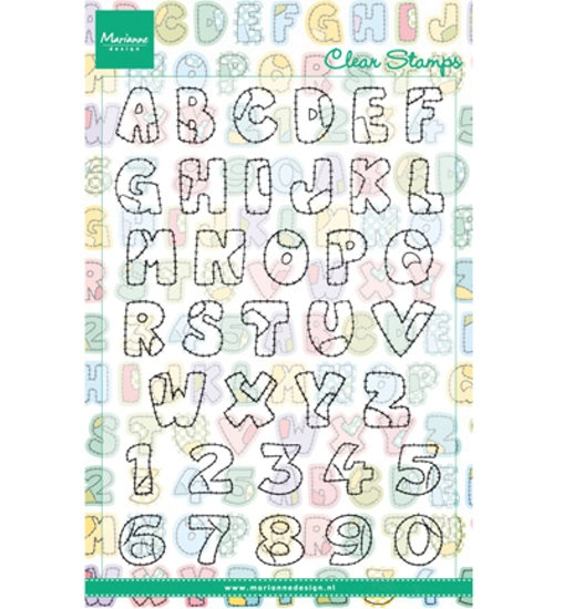 Patchwork Alphabet - Stempel / Clearstamp