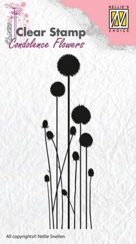 Kondolenz - Blumen No.3 - Stempel - Clearstamp