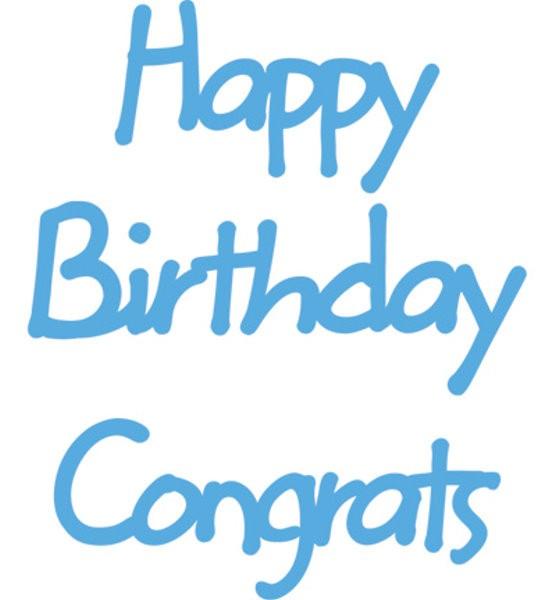 Happy Birthday / Congrats - Text - Stanzschablone