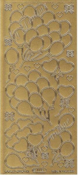Sticker - Ballons in Gold - Format 10x23 cm