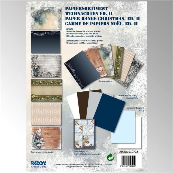 Papiersortiment Weihnachten Edition II - von Reddy Creative Cards