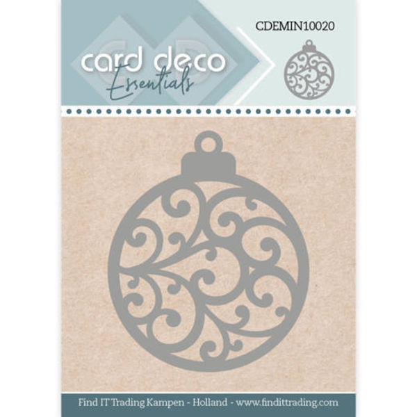 Christmas Bauble / Christbaumkugel - Mini Dies von Card Deco (CDEMIN10020)