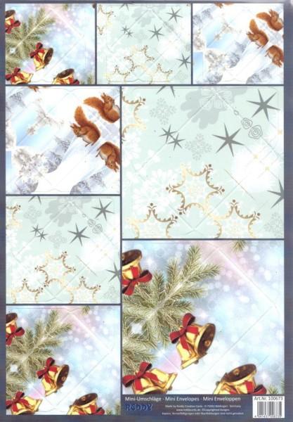 Mini-Umschläge Weihnachten 2 - 8er-Set