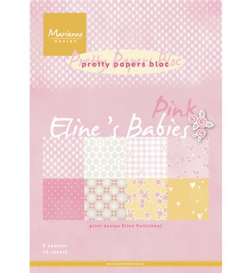 Design Motivpapier - Eline´s Babies - Pink