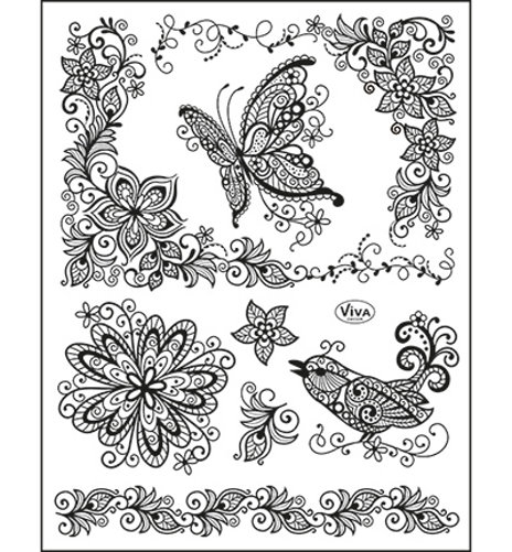 ​Scribble Butterfly - Stempel / Clearstamp
