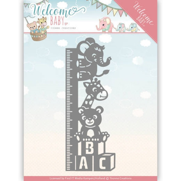 Growth Chart - Welcome Baby - Stanzschablone