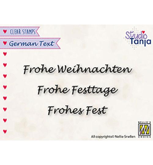 Frohe Weihnachten ... - Clear Stamp / Stempelplatte von Nellies Choice by Studio Tanja (GTCS003)
