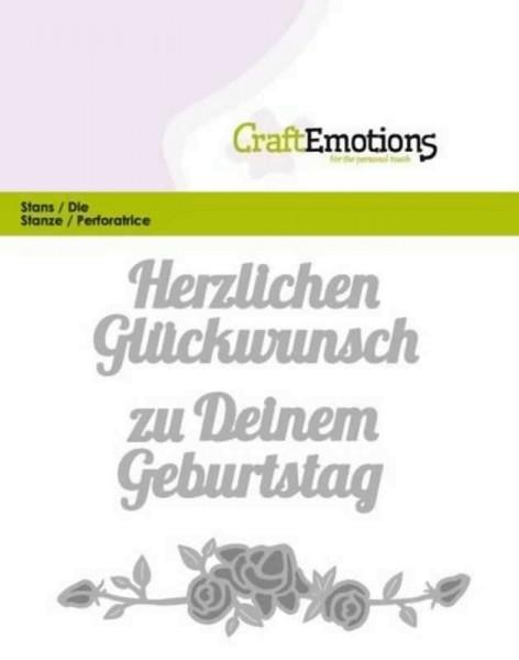 Herzlichen Glückwunsch - Textschablone von CraftEmotions (115633/0402)