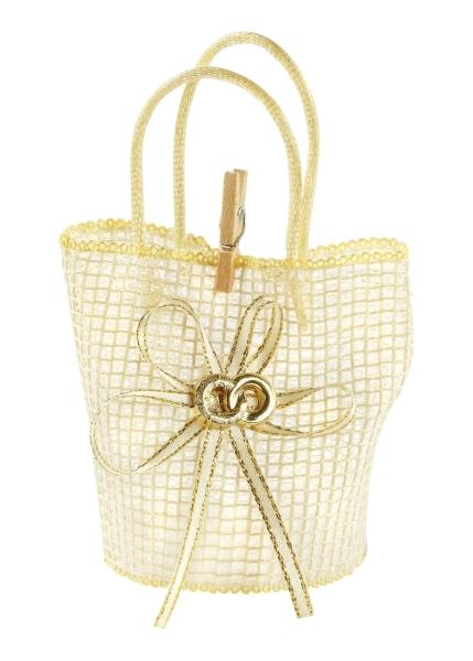 Hochzeitskörbchen, creme, Set mit 3 Stck. - Je 5 x 10 cm