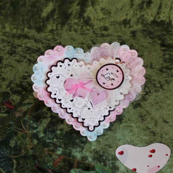 Gruß- Glückwunschkarte zum Valentinstag als Aufsteller