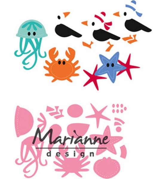 Möwe & Freunde - Stanzschablone von Marianne Design