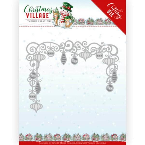 Christmas Baubles / Weihnachtsbaumkugeln - Christmas Village - Stanzschablone