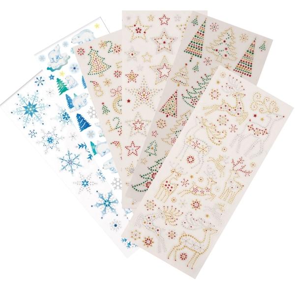 """PAPERMANIA Sticker """"Weihnachten / Xmas"""" - 6 Blatt 22x10cm"""