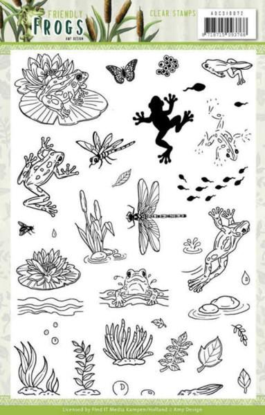 Friendly Frogs - Clear Stamp - Stempelplatte von Amy Design (ADCS10072)