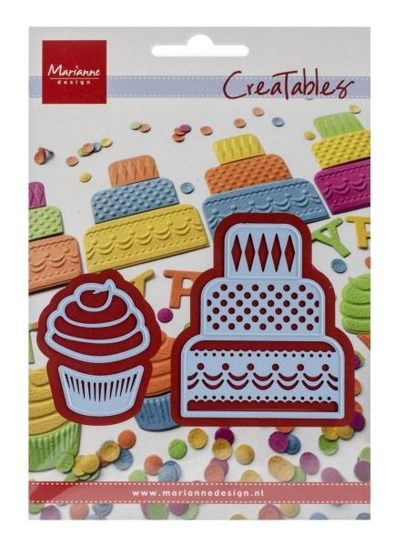 Mini Cake & Cupcake - Stanzschablone