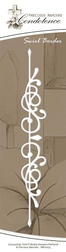Swirl Border / Swirl - Bordüre Kondolenz - Stanz- Prägeschablone