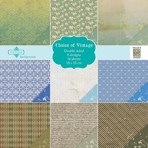 Choice of Vintage - Motivpapier-Set / Scrapbook - Nellies Choice