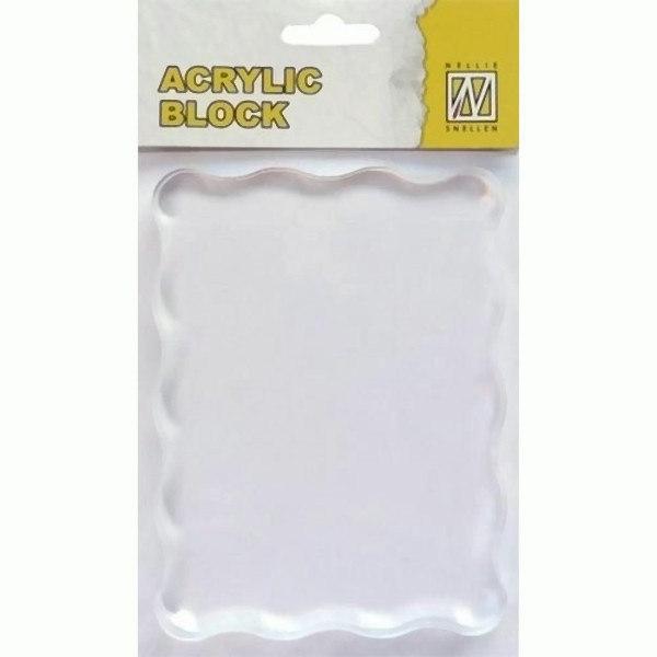 Acryl - Stempelblock 120 x 90 x 8 mm von Nellie´s Choice (AB007)