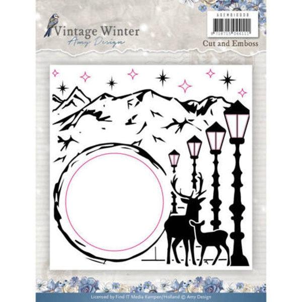 Vintage Winter - Prägeschablone / Embossing Folder
