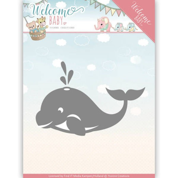 Little Orca / Walfisch - Welcome Baby - Stanzschablone
