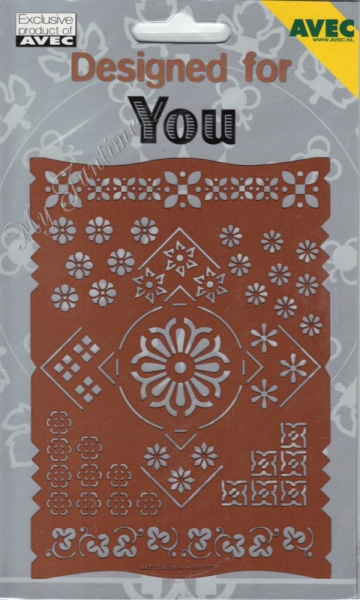 Designed for You - No. 7 - Prägeschablone / Embossing-Folder